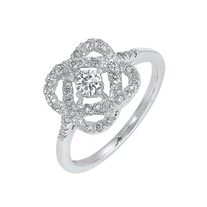 14K Love's Crossing Diamond Ring (1 CTW)