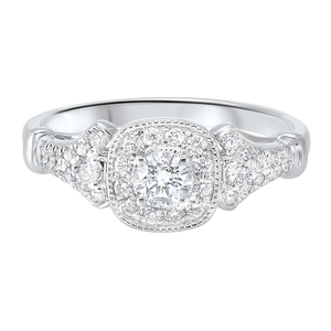 14kw c&c micro prong diamond ring 3/5ct, rg10279-4wd