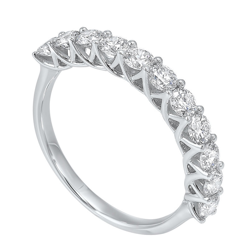 14kw 11 stone shared prong diamond band 1ct, rpt710r-4wce