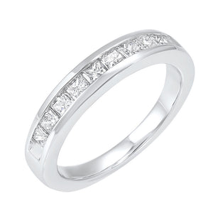 14kw 9 stone channel diamond band 3/4ct, emr40-4w