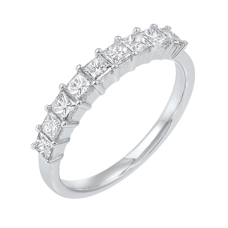 14kw 9 stone shared prong diamond band 3/4ct, rg10249-1wds