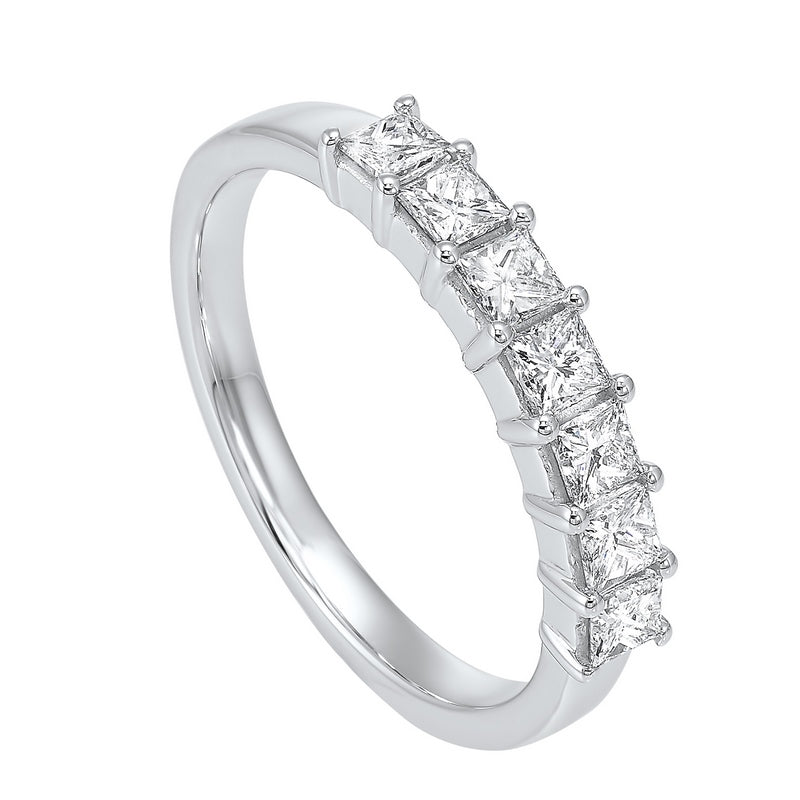 14kw 7 stone shared prong diamond band 3/4ct, np706-4wce