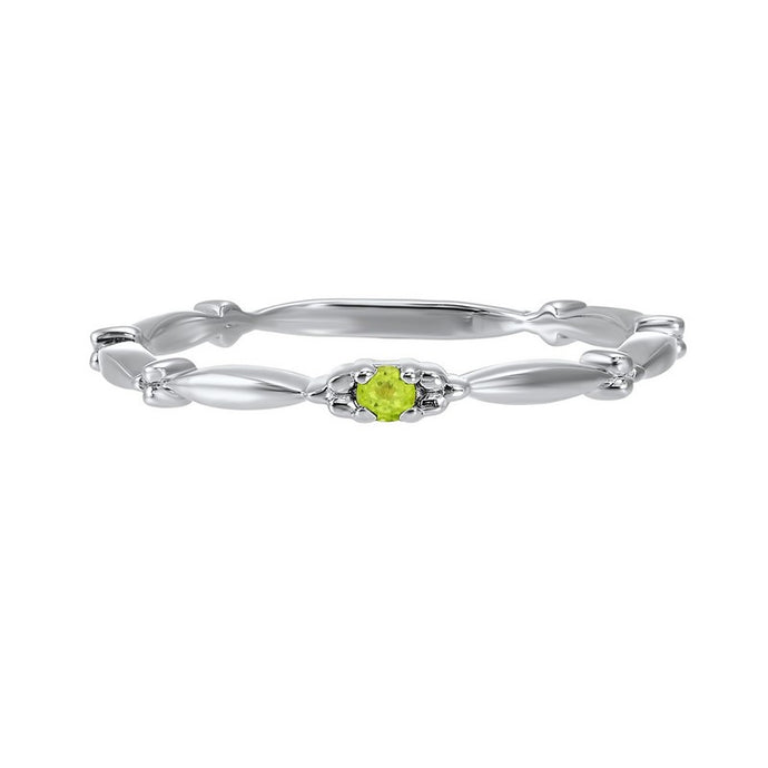 10kw mix prong peridot band, bd73400-4wc