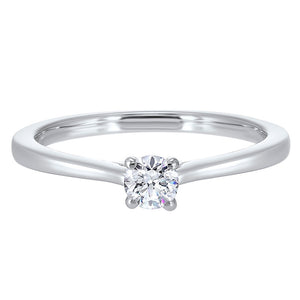 14kw solitaire prong diamond ring 1/3ct, pd10410-4wf