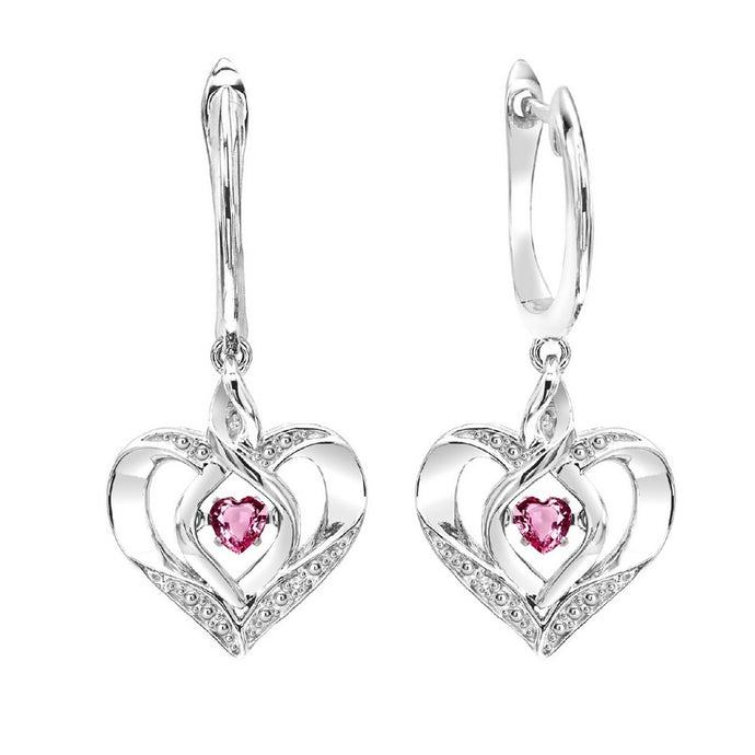 ss rol prong pink tourmaline earrings 3/500ct, eso54-4w