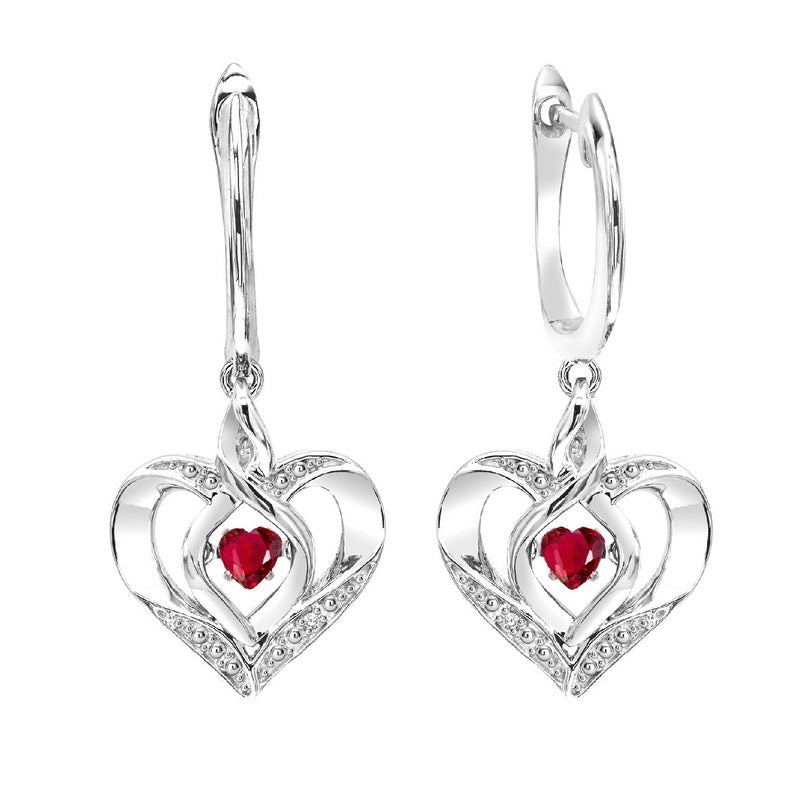 ss rol prong ruby earrings 3/500ct, eso64-4w