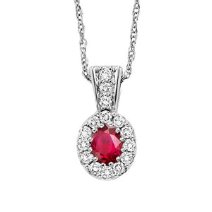 14kw color ens halo prong ruby pendant 1/8ct, rg70622-4wc