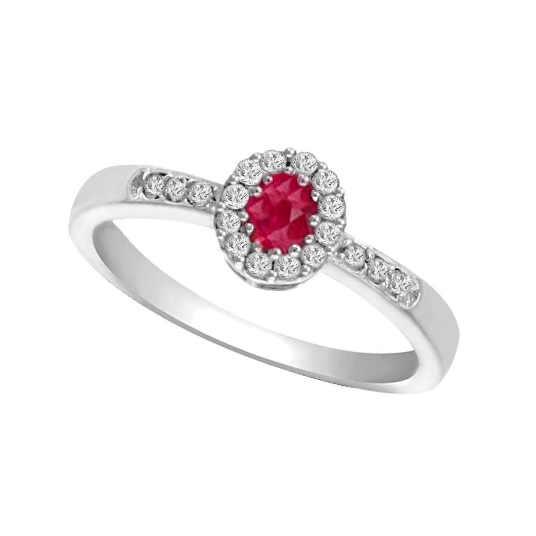 14kw color ens halo prong ruby ring 1/6ct, rg68796-4wc