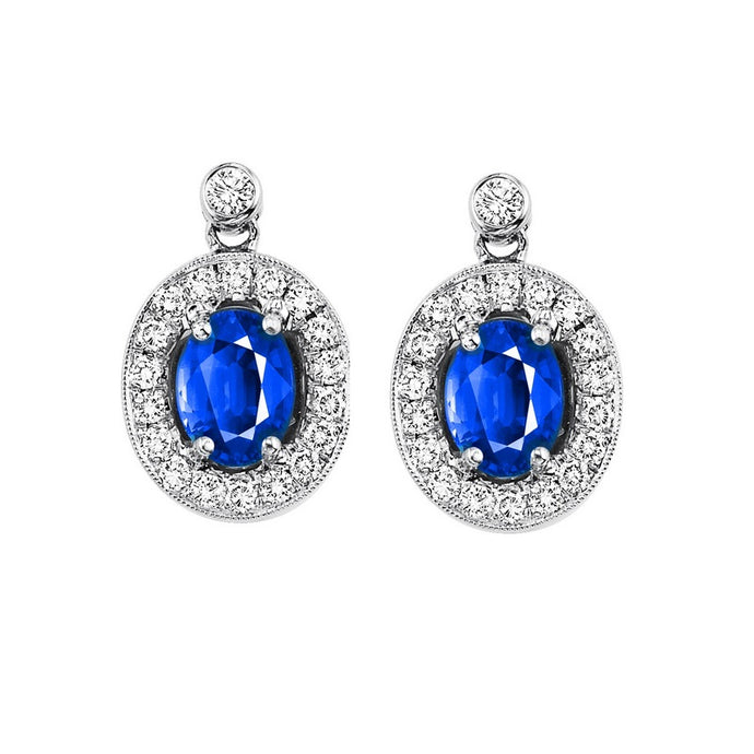 14kw color ens halo prong sapphire earrings 1/4ct, rg65945-4yc