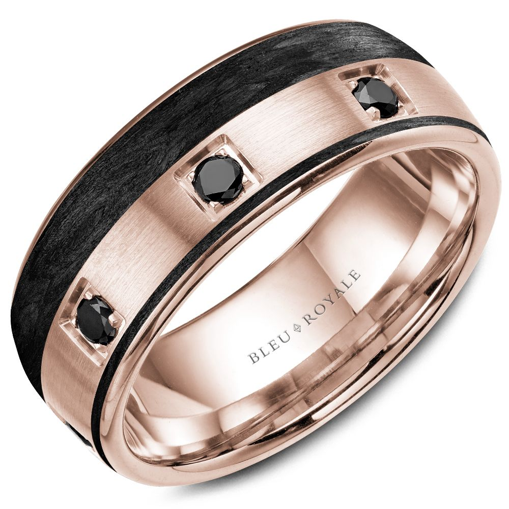 Bleu Royal Rose Gold Mens Band RYL-019RBD85
