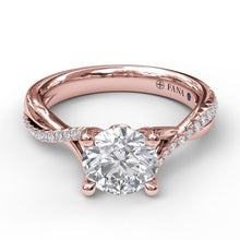 Load image into Gallery viewer, Alternating Diamond Twist Engagement Ring