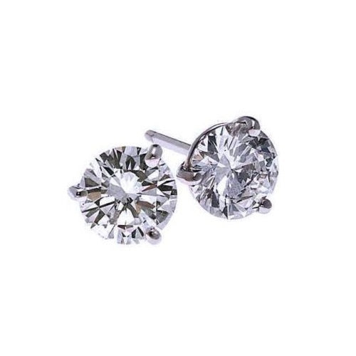 18kw prong diamond studs 1/10ct, fr1228-4yd