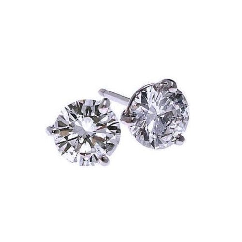 18kw prong diamond studs, fr1224-4wd