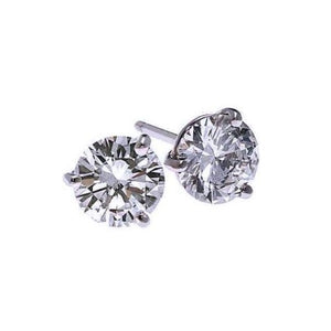 18kw prong diamond studs 1/4ct, fr1224-4yd