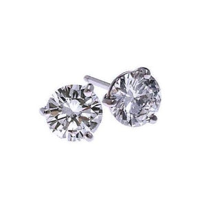 18kw prong diamond studs 1/2ct, fr1311-4ybk