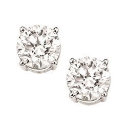 14kw prong diamond studs 3/8ct, fr1456-4yd