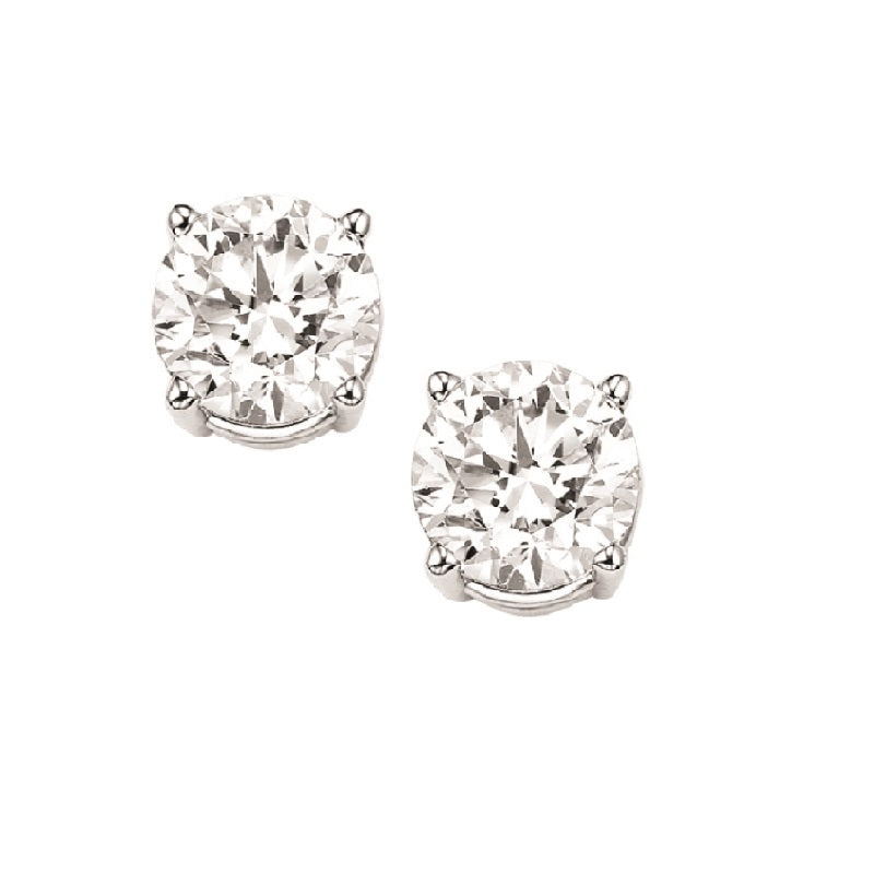 14kw prong diamond studs 1/2ct, fr1083-4wd