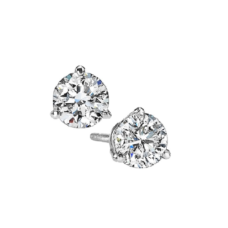14kw prong diamond studs  1/4ct, fr1235-4yd