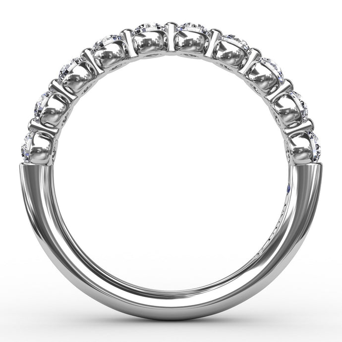 1/2ct Single Prong Set Anniversary Band