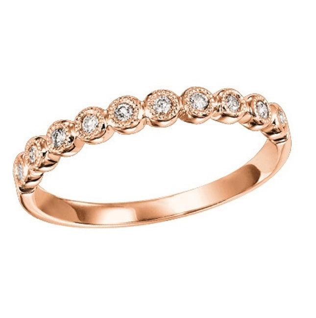 14K Rose Gold Mixable Ring (0.12 CTW)