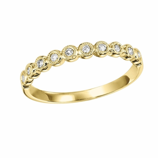 14K Yellow Gold Mixable Ring (0.12 CTW)