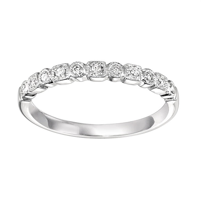 14K White Gold Mixable Ring (0.10 CTW)