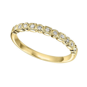 14K Yellow Gold Mixable Ring (0.10 CTW)