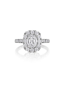 Henri Daussi Cushion Collection Diamond Ring (1.00 CTW)