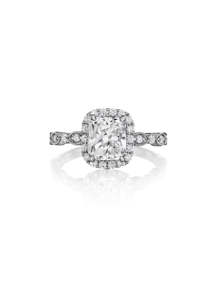 Henri Daussi Cushion Collection Diamond Ring (0.30 CTW)