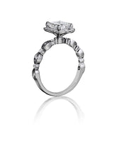 Load image into Gallery viewer, Henri Daussi Cushion Collection Diamond Ring (0.30 CTW)