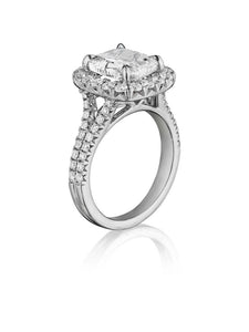 Henri Daussi Cushion Collection Diamond Ring (0.90 CTW)