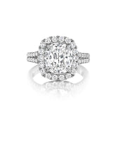 Load image into Gallery viewer, Henri Daussi Cushion Collection Diamond Ring (0.90 CTW)