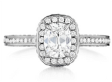 Load image into Gallery viewer, Henri Daussi Cushion Collection Diamond Ring (0.7 CTW)