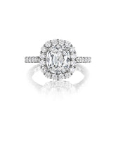 Load image into Gallery viewer, Henri Daussi Cushion Collection Diamond Ring (1.45 CTW)