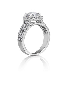 Henri Daussi Cushion Collection Diamond Ring (0.60 CTW)