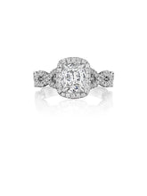 Load image into Gallery viewer, Henri Daussi Cushion Collection Diamond Ring (0.45 CTW)
