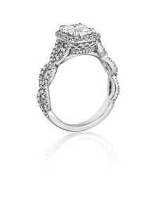 Henri Daussi Cushion Collection Diamond Ring (0.45 CTW)