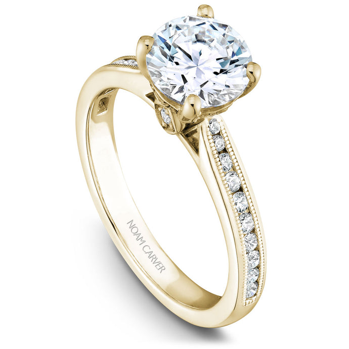 Noam Carver Yellow Gold Channel Set Diamond Engagement Ring (0.27 CTW)