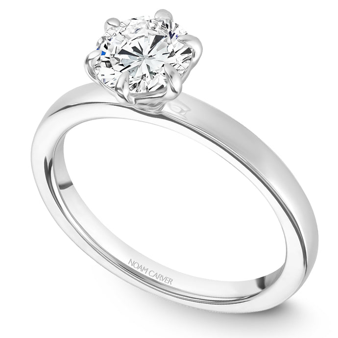 Noam Carver White Gold 6-Prong Solitaire Engagement Ring