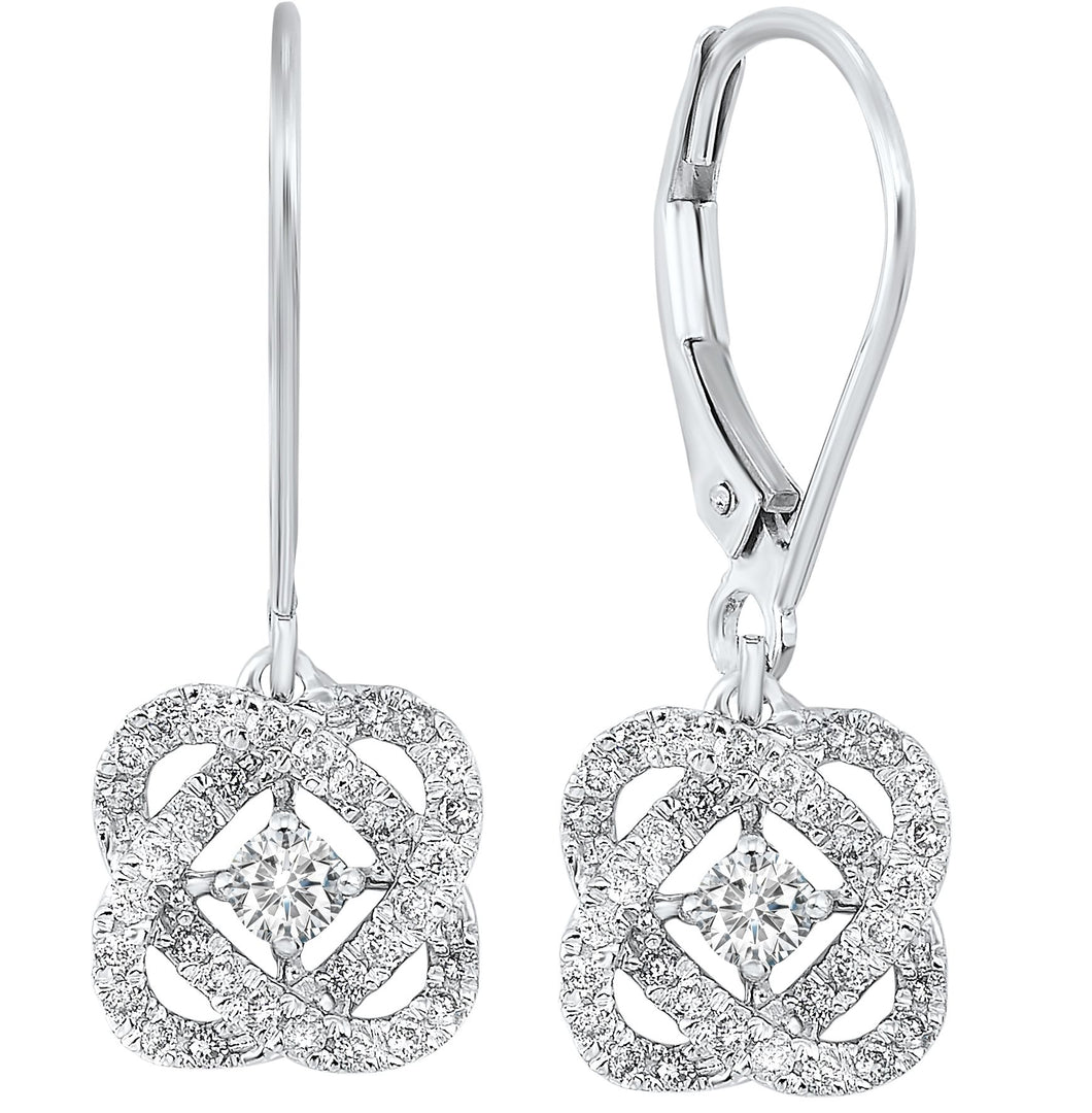 14K Love's Crossing Diamond Earrings (0.25 CTW)