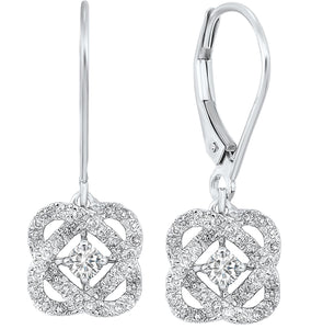 14K Love's Crossing Diamond Earrings (0.50 CTW)