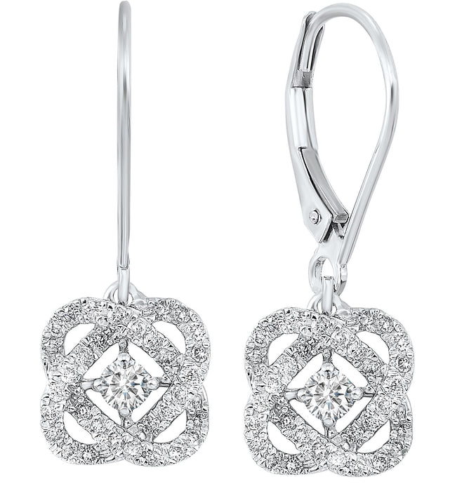 14K Love's Crossing Diamond Earrings (1 CTW)