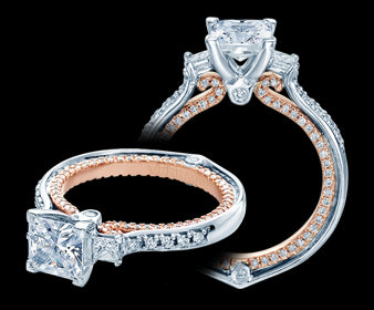 Verragio Couture Princess Diamond Engagement Ring (0.65 CTW)