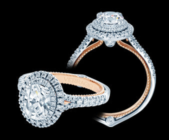 Verragio Couture Oval Diamond Engagement Ring (0.45 CTW)