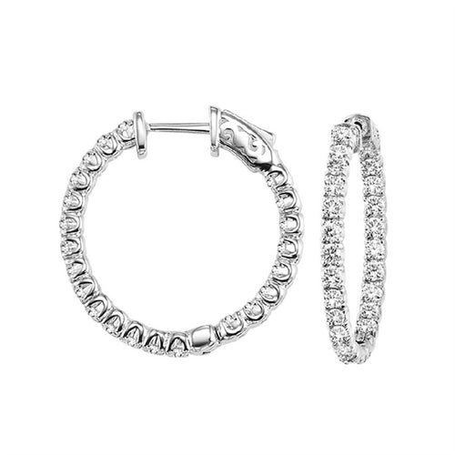 Diamond Inside-Out Hoops (3 CTW)