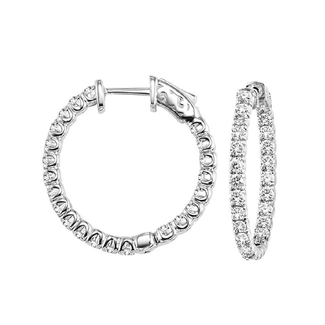 Diamond Inside-Out Hoops (7 CTW)