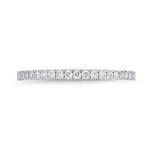 Load image into Gallery viewer, Memoire Diamond Bouquets White Gold Round Bands (0.51 ctw)