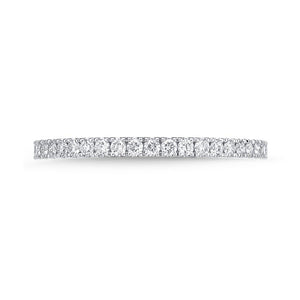 Memoire Diamond Bouquets White Gold Round Bands (0.51 ctw)