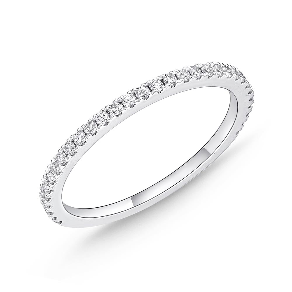 Memoire Diamond Bouquets White Gold Round Bands (0.21 ctw)
