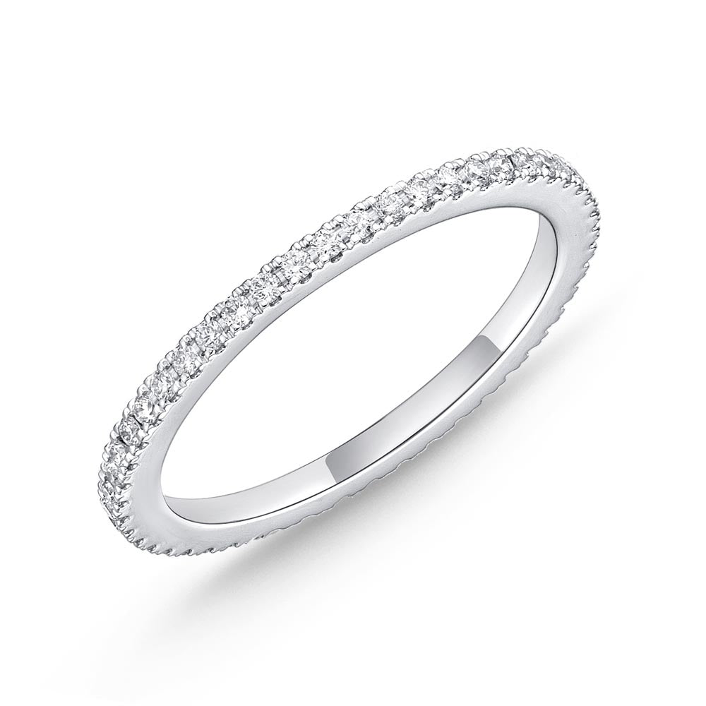 Memoire Diamond Bouquets White Gold Round Bands (0.29 ctw)